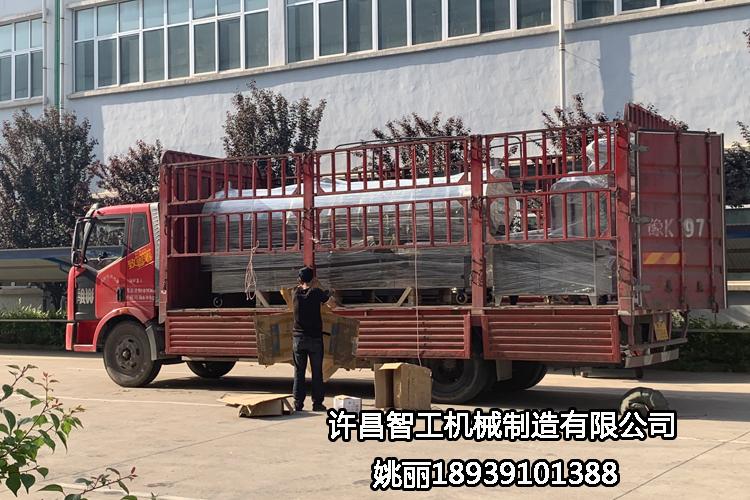 陝西西安客戶訂購的四米炒瓜子機生產線全套設備專車發貨